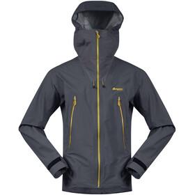 Bergans Slingsby 3 -warstwowa kurtka Mężczyźni, solid dark grey/waxed yellow
